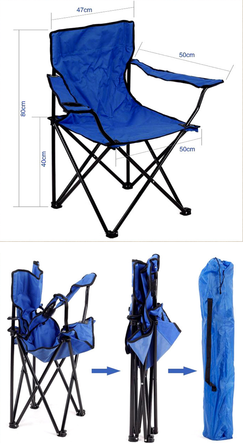 Hot Selling Easy Cup Holder custom promotion folding portable chair Cheap Easy Take outdoor folding Beach Chair  camping chair