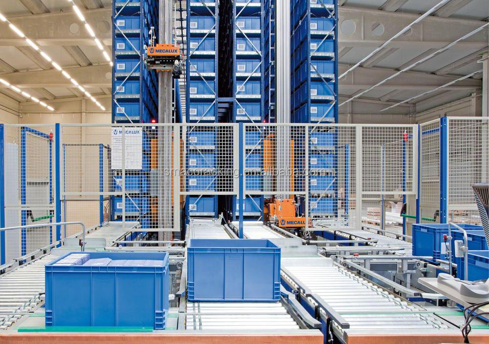 Mini Load ASRS Carton Picking Solution Automated Storage and Retrieval System