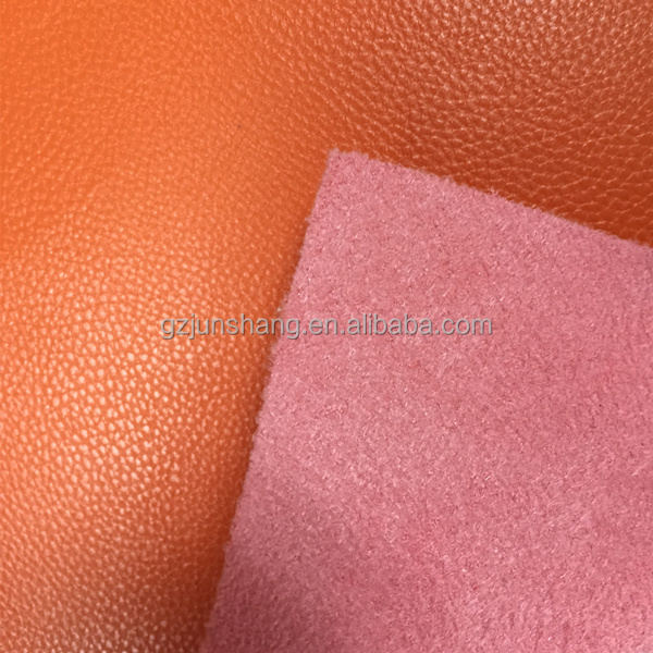 High quality PVC leather with suede backing for ladies handbags use ,also popular use for wallets ,purse