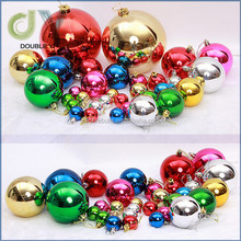 Customized DECORATION 6cm plastic christmas ball 24/Set plastic ball for sale
