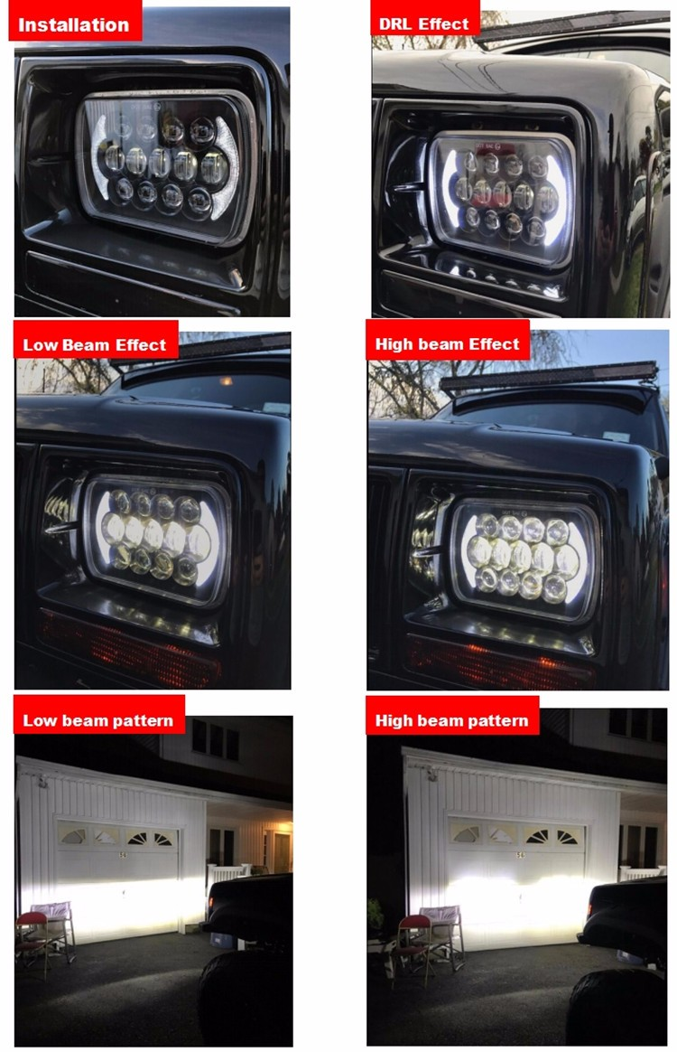 LOYO patent light 7inch h/l 5x7 led headlight for truck,headlights 5x7 black for jeep