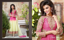 New Bollywood Designer Suit Fashionable Anarkali Salwaar Kameez Bridal Wear Heavy Material Georgette Anarkali Dress R2042