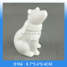 Holiday Decor Porcelain Standing Bears,Christmas Decorations White Porcelain Ceramic Christmas Ornaments