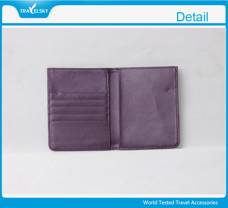 High-quality RFID blocking leather passport holder