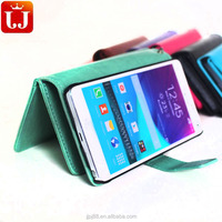 For Samsung Note4 PU leather phone cover Durable and Cheap Leather Cell phone Case