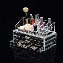 Free sample Factory low price craft fancy OEM cheap clear empty acrylic makeup box cosmetic