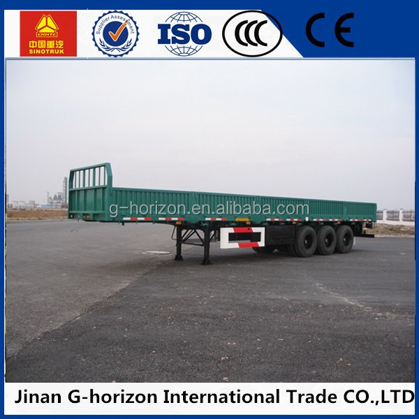 box stake semi trailer cargo truck 3 axles fencing / stake semi trailer