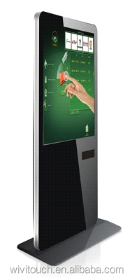 42inch Magic interactive mirror kiosk, floor standing information kiosk self service touch screen payment kiosk