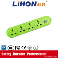 4 way powerl extension cord multiple socket with master switch