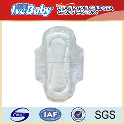fujian supplier customized day use winged sanitary pad