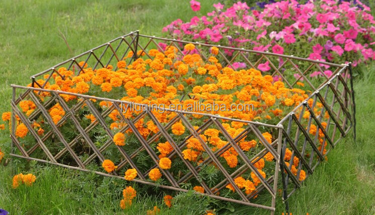 Wholesale Willow Garden Edging Fence Factoy Direct Cheap Flower Garden Fence Wicker Wooden Fence Wicker Craft