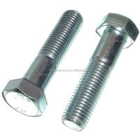 White Zinc Plated DIN931 Half Thread High Strength Hex Bolt and DIN934 Nut Hardware