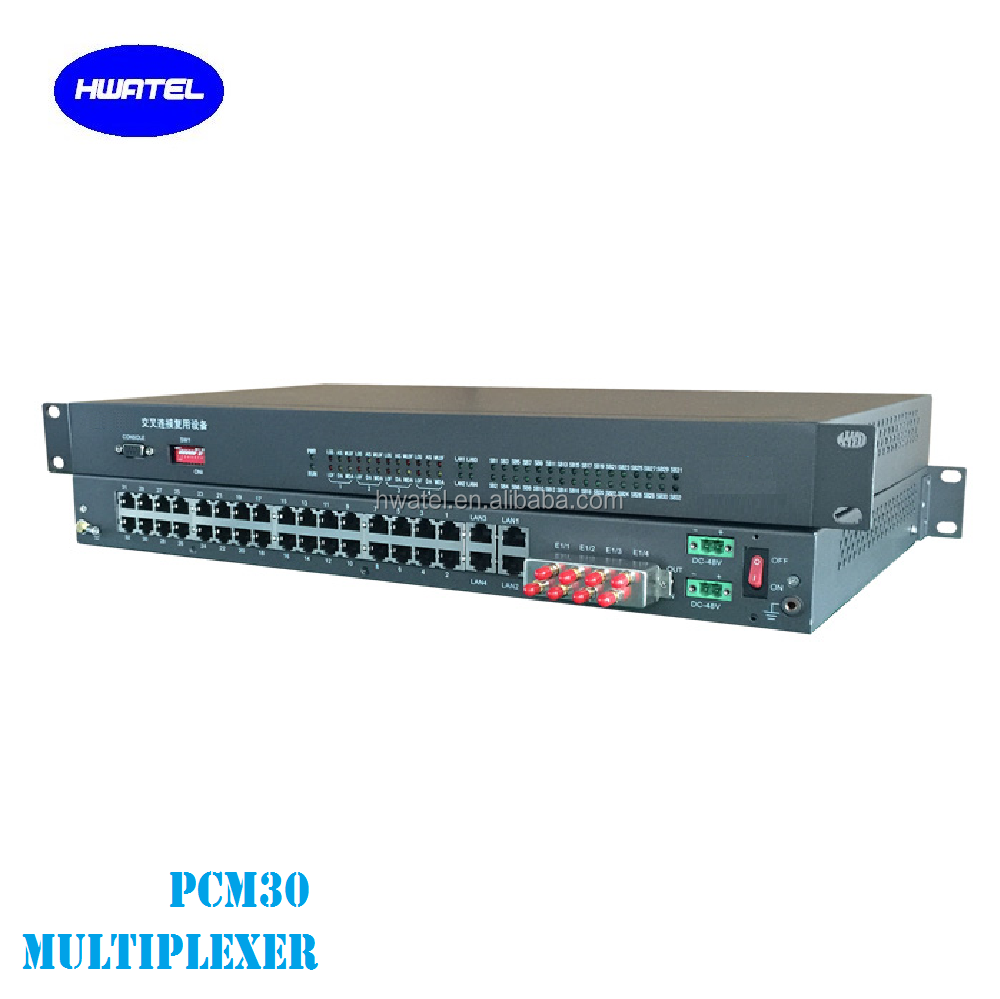 30 channel 4 e1 FXS FXO Multiplexer PCM with DACS DXC