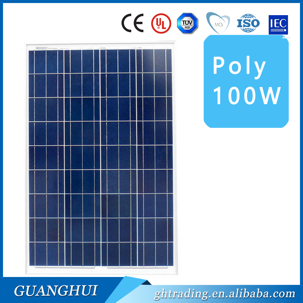 photovoltaic solar panels 100w of best price for solar panel system