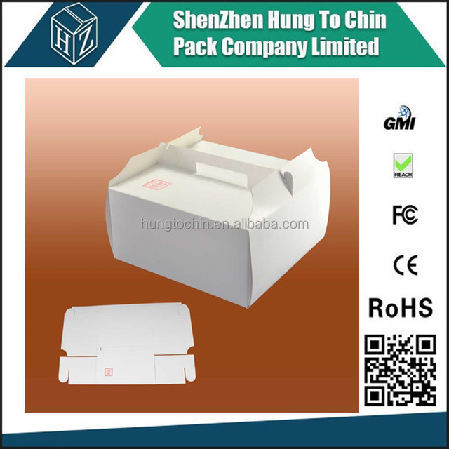 China experienced Hot selling corrugated cake paper box with PVC window and cake boards