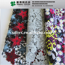 100% polyester 130cm embroided elegant dress fabric