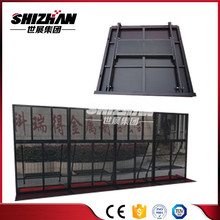 Galvanized crowed guard rails pedestrian safety barrier