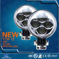 "Y&T YTW12Standard parts autobike Parts of work light 12w off road led driving light bar 2"" led light"