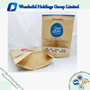 Customized printing stand up kraft paper bag with window and ziplock