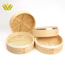 Wholesale Bamboo Food Steamer Basket Sets