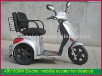 Mobility scooter for old and disabled man