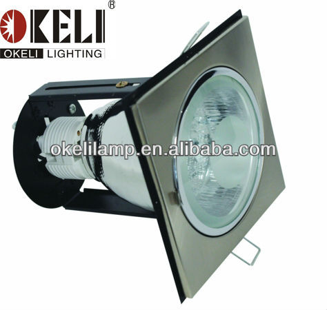 Simple&Classical Design CFL DownLight Series,steel sand nickel+chrom+clear Vertical Reflector DownLight,E27/PLC Lamp Holder