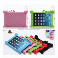 hot selling silicone soft shockproof tablet pc stand case cover for ipad mini 1 2 3