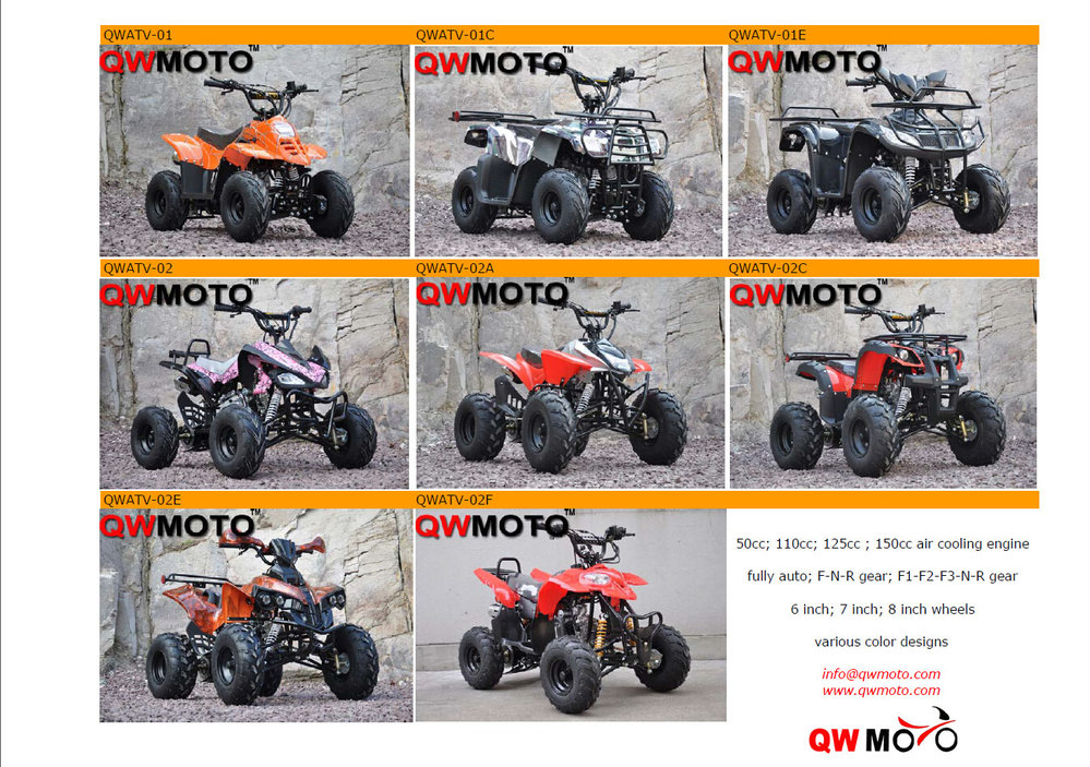 Chinese 250CC ATV QUAD Bike 8 inch wheels 4 Wheel Drive hunting Style 250CC quad bikes atv cars QWATV-08D for sale