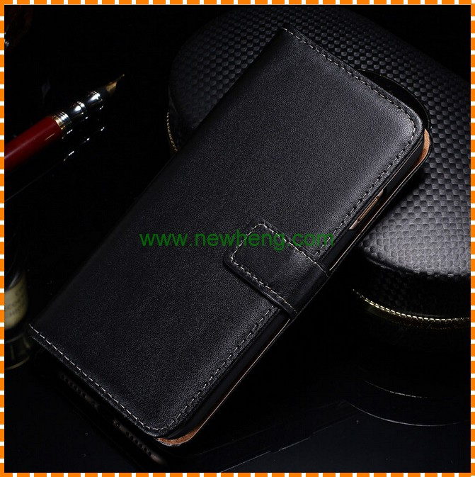 Genuine Leather Wallet Case for Samsung Galaxy J3 2016