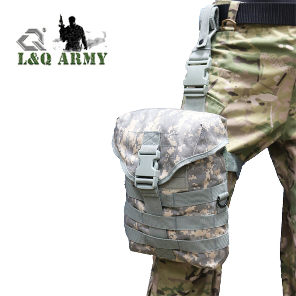 ACU LQ ARMY Gas Mask Pouch Quick Release Buckle Leg Pouch Removable