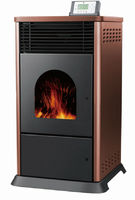 Indoor biomass pellet fuel heater