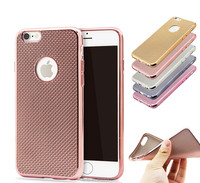 Big discount Luxury Soft TPU Clear Case For Iphone 6 6S 4.7 Ultra Slim electroplating Glitter Grid Back Cover Case