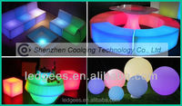 LED illuminated high top bar tables and chairs living room furniture type