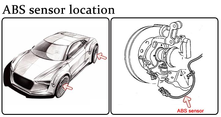 New Genuine Mercedes-Benz C W202 Front Left ABS Speed Sensor A1705400817 OEM