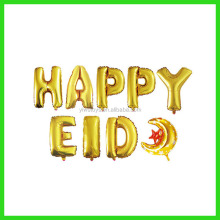 gold letter air happy eid balloon for decoration