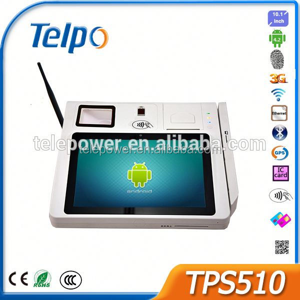 Telepower TPS510 Wifi Smart POS Terminal Touch Tablet with SIM Card POS Receipt Printer