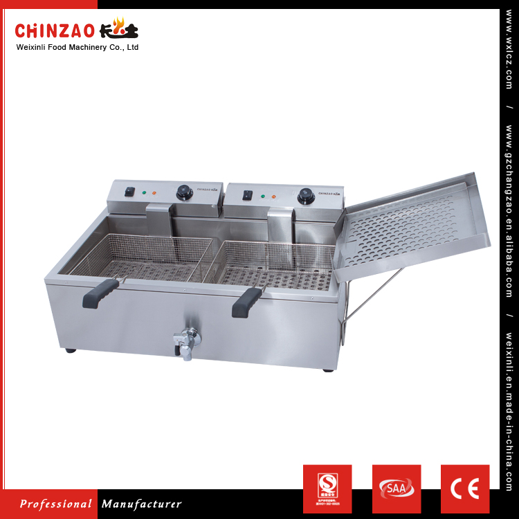 CHINZAO Chinese Companies Professional Manufacture 30L+30L Capacity Electric Deep Fryer