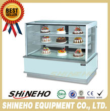W438 CE bakery refrigerator showcase/Glass Display Case/cake display fridge