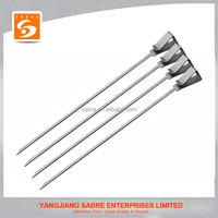 2016 New design stainless steel 4 pcs reusable skewers