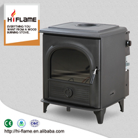China supplier HiFlame High Output wood burning fireplace with back Boiler Stove AL910B