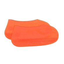 Skidproof and waterproof reusable silicone rain shoes covers to easy wear