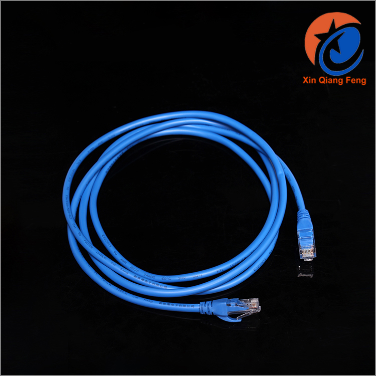 2m blue high quality cat5 ethernet cable fiber optic network cable