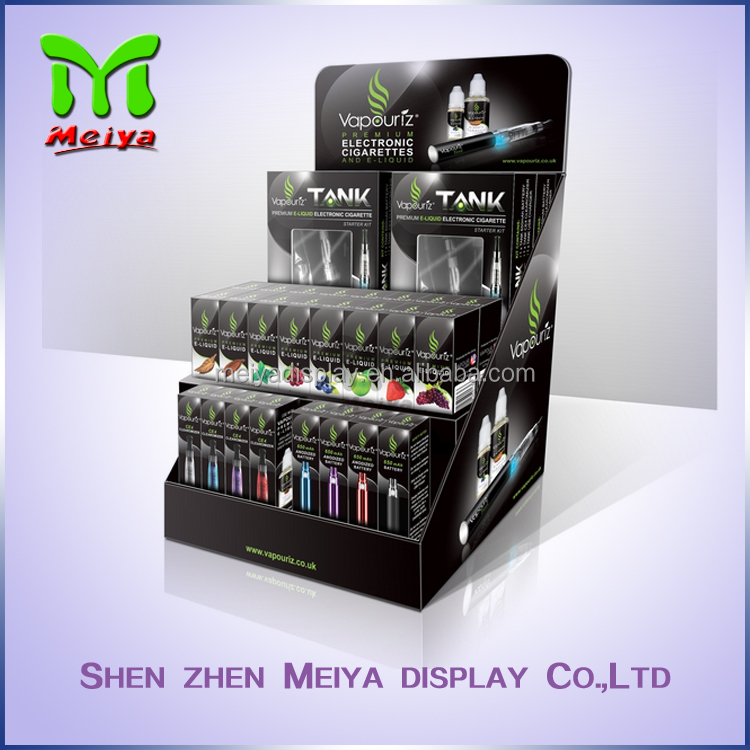 Customized Advertising countertop display box for electronic cigarette/retail shop paper countertops
