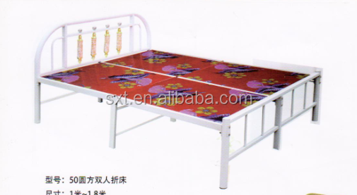 Bazhou European design, folding double metal bed