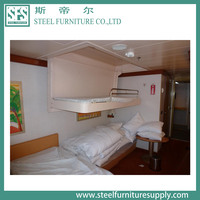 marine cabin ceiling pullman bed, space save and easy fold bed