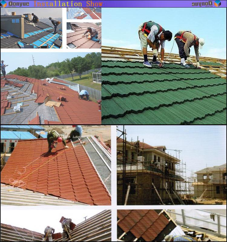 asphalt shingle replace roof tile clay roman roof tile stone granuled steel tiles