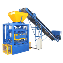 Semi automatic concrete hollow industry brick and block production making machine