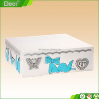 Top Quality custom made Eco-friendly PP PVC PET cosmetic folding plastic wedding candy box