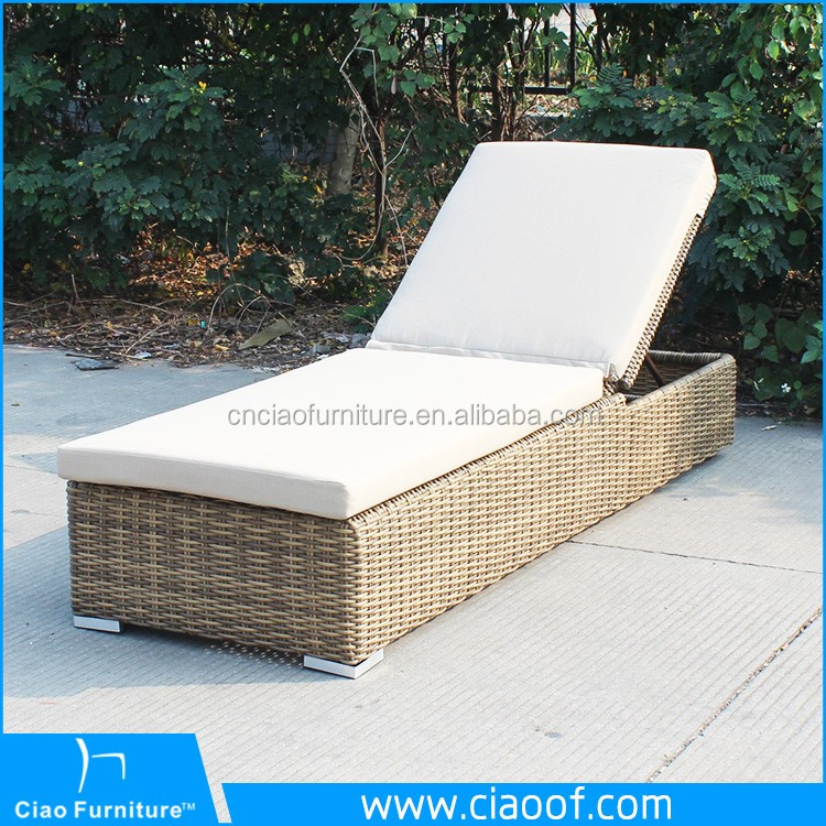 Latest Rattan Lounger Used Hotel Pool Furniture