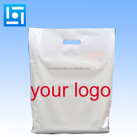 Factory printed your own bag economic plastic shopping bag with handles die cut hole punch plastic bag with logo print